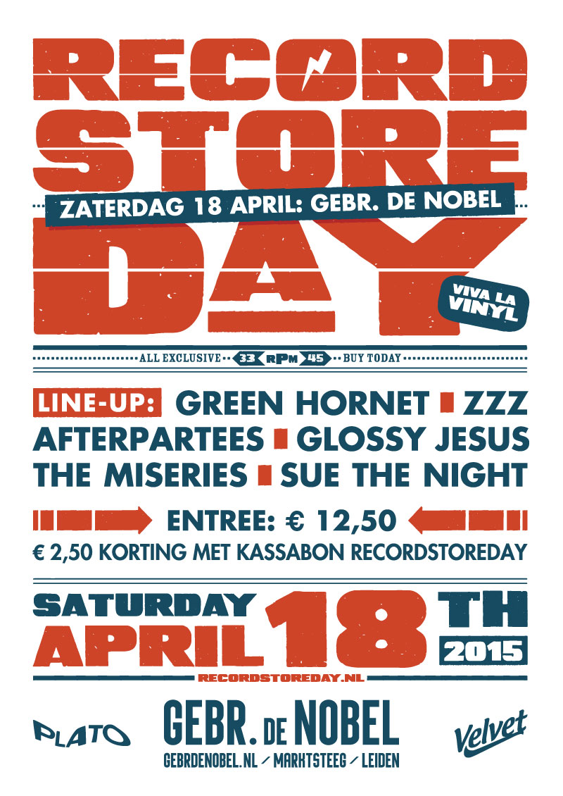 Record Store Day after party in Gebr. de Nobel